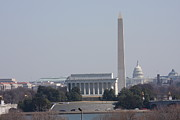 Monument View From Iwo Jima Memorial - 12121 Print by DC Photographer