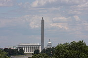 Chair Prints - Monument view from Iwo Jima Memorial - 12123 Print by DC Photographer