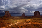 Storm Digital Art Prints - Monuments of the West Print by Ellen Lacey