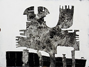 Outsider Art Mixed Media Metal Prints - Monumentum No 1 Metal Print by Mark M  Mellon