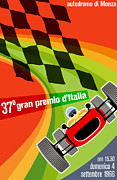 Rally Posters - Monza Grand Prix 1966 Poster by Nomad Art And  Design
