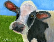 Moo Moo Paintings - Moo Eyes by Vicky Watkins