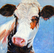 Moo Moo Paintings - Moo Moo by Carol Landry