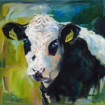 Moo Moo Paintings - Moo by Patricia Cotterill