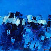 Mood Art Paintings - Mood in Blue by Elise Palmigiani