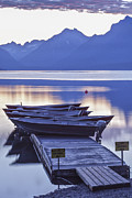 Glacier National Park Posters - Mood Indigo Poster by Jon Glaser