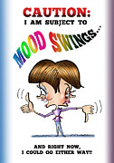 Thumbs Down Posters - Mood Swings Poster by Mark Armstrong