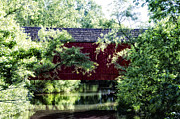 Moods Digital Art - Moods Covered Bridge - Bucks County by Bill Cannon