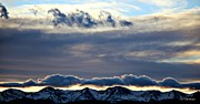 Colorado Mountain Posters Prints - Moody Blue Sunset Print by Barbara Chichester