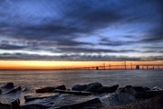 Sandy Point Park Prints - Moody Blues Print by JC Findley