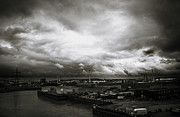 Moody Skies In London Print by Lenny Carter