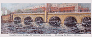 Waltham Prints - Moody Street Bridge All Covered with Snow Print by Rita Brown
