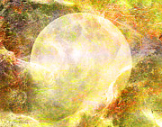 Moon Digital Art Posters - Moon Abstract Poster by J Larry Walker