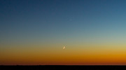 Waning Moon Photos - Moon and Venus I by Marco Oliveira