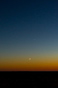 Waning Moon Photos - Moon and Venus II by Marco Oliveira