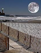 Lighthouse Digital Art - Moon Bay by Keith Dillon