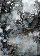 Sea Moon Full Moon Painting Metal Prints - Moon Blossoms Beta Metal Print by Andrea Pramuk