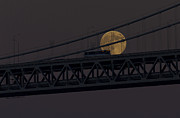 Kate Brown Framed Prints - Moon Bridge Bus Framed Print by Kate Brown