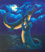 Florida Gators  Paintings - Moon Dance by Adriane Pirro