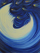 Jrr Paintings - Moon Feather by jrr by First Star Art