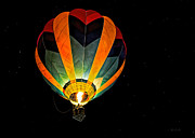 Hot-air Balloons Prints - Moon Glow Print by Bob Orsillo