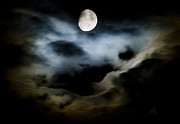 Moonscape Framed Prints - Moon Glow Framed Print by Steven Poulton
