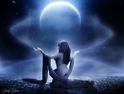 Moon Digital Art - Moon Goddess by Jennifer Gelinas