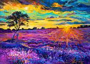 Lavender Field Print by Ivailo Nikolov