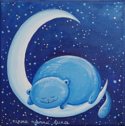Moonlight Paintings - Moon Lullaby by Raffaella Di Vaio
