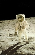Man On The Moon Prints - Moon Man Print by Gunter  Hortz
