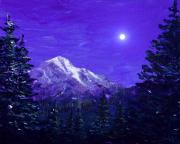 Full Moon Art - Moon Mountain by Anastasiya Malakhova