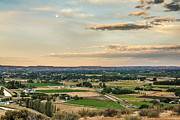 Farm Photography Prints - Moon Over Emmett Valley Print by Robert Bales
