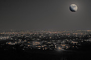 Moon Over Fort Collins Print by David Kehrli