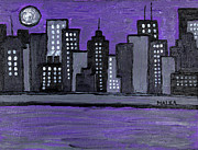 Marlene MALKA Harris - Moon Over Manhattan