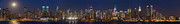 Top Art - Moon Over Manhattan by Mike Reid