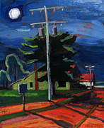 Lit Painting Originals - Moon Over Mihami by Charlie Spear