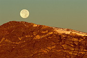 Byway Prints - Moon Over Mount Ida Print by Eric Glaser