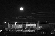 Colorado State University Prints - Moon Over the LSC Print by Emily Clingman