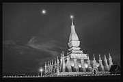 David Longstreath Metal Prints - Moon over Vientiane Metal Print by David Longstreath