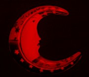 Icon Mixed Media Posters - MOON PHASE in BLOOD RED Poster by Rob Hans