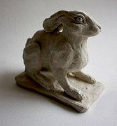 Mortar Sculptures - Moon Rabbit by Derrick Higgins