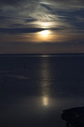 Sea Moon Full Moon Photo Posters - Moon Rise Poster by Anne Gilbert
