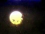 Leslie Hunziker - Moon Rising thru Trees