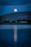 Lahaina Prints - Moon set in Honolulu Print by Tin Lung Chao