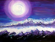Stood Paintings - Moon Stand Still In Valley of Aijalon by Pamorama Jones 