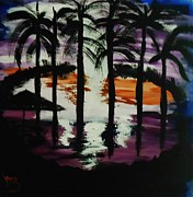 Marie Bulger - Moon Thru the Palms
