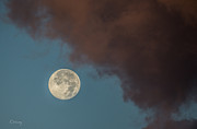 Moon Transition From Night To Day Print by Rene Triay Photography