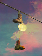 Powerline Prints - Moon Walk Print by Robert Ball
