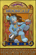 Nursery Rhyme Mixed Media Metal Prints - Mooncalf Metal Print by J L Meadows