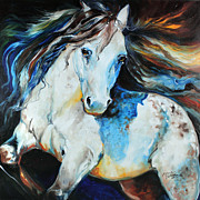 Moonlight Appaloosa Print by Marcia Baldwin